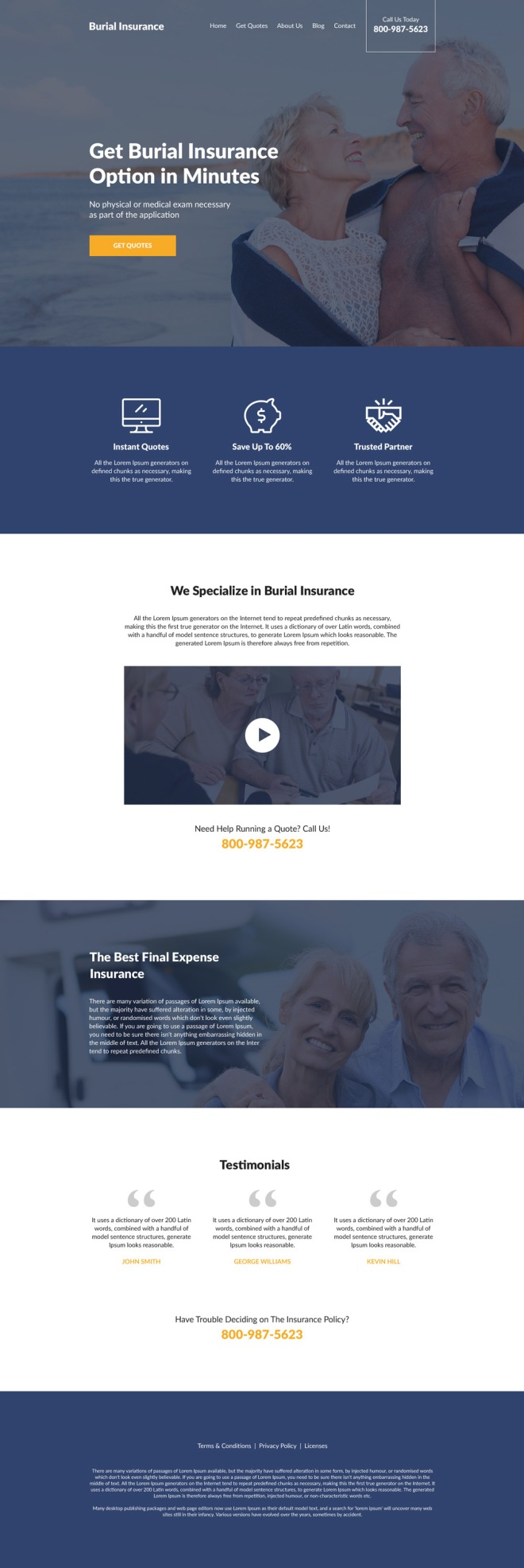 professional burial insurance free quotes responsive website design